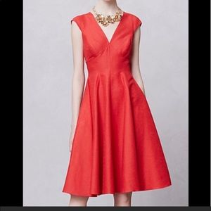 Peter Som x Anthropologie Red Dress size 2